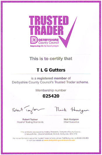 TLG Gutter Luton | Member of the Trusted Trader Scheme for Derbyshire County Council